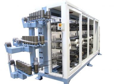 Fully Automated Tensioned Creel with Right Angle Output
