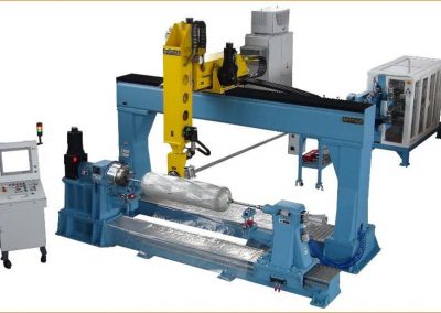 Single Spindle Filament Winding Machine with tensioned Creel